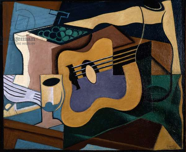 Still Life with Guitar, October-November 1920 (oil on canvas)