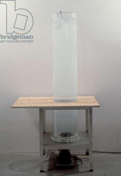 Vortex, 1998 (water, aluminum, plastic, rubber, pump & rocks)
