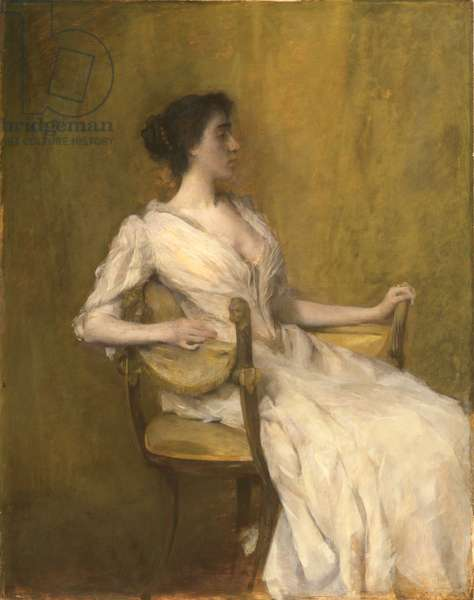 Lady in White, c.1901 (oil on panel)