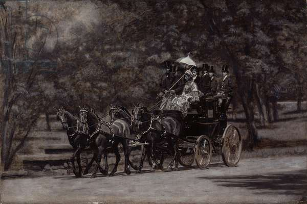 The Fairman Rogers Four-In-Hand (A May Morning in the Park) 1899 (oil on canvas)