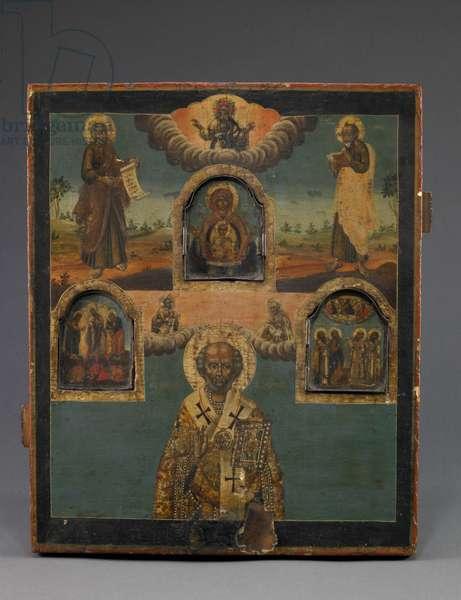 Saint Nicholas, late 18th-early 19th century (tempera on wood & metal)