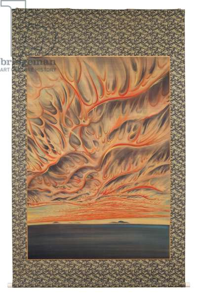 Setting Sun of Sacramento Valley, 1922 (hanging scroll: ink & colour on silk)