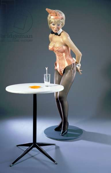 Playboy Bunny, 1970 (polyester resin & fiberglass polychromed in oil, with found objects)