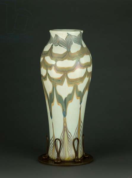 Vase, c.1895-96 (glass & bronze)