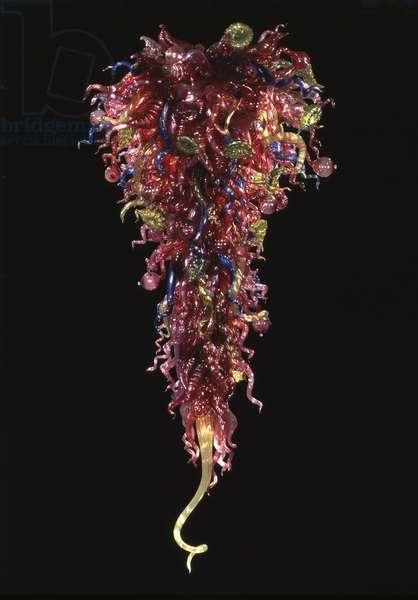 Wine Chandelier, 1996 (blown glass)
