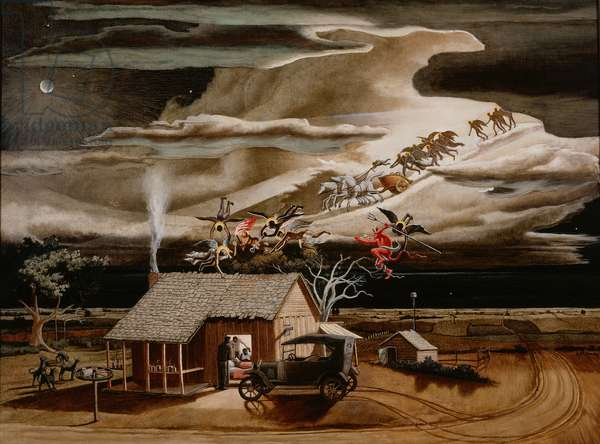 Swing Low, Sweet Chariot, 1937 (oil on canvas)