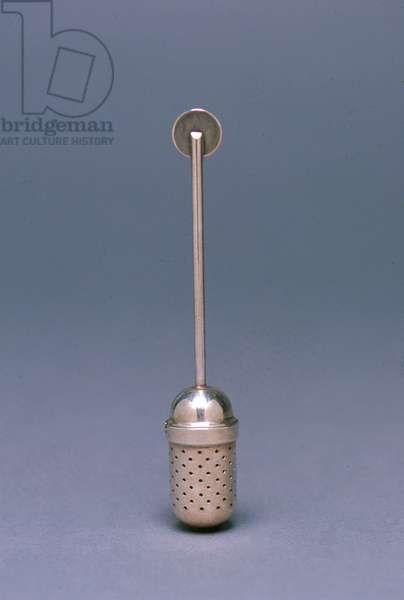 Tea infuser, 1924 (silvered brass)