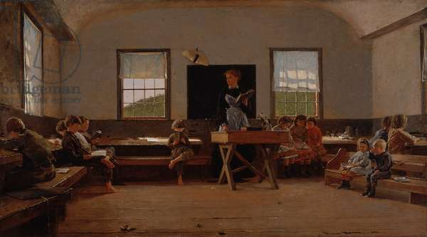 The Country School, 1871 (oil on canvas)