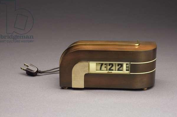 Zephyr Electric Clock, Lawson Time Inc., 1934 (brass, copper, bakelite & plastic)