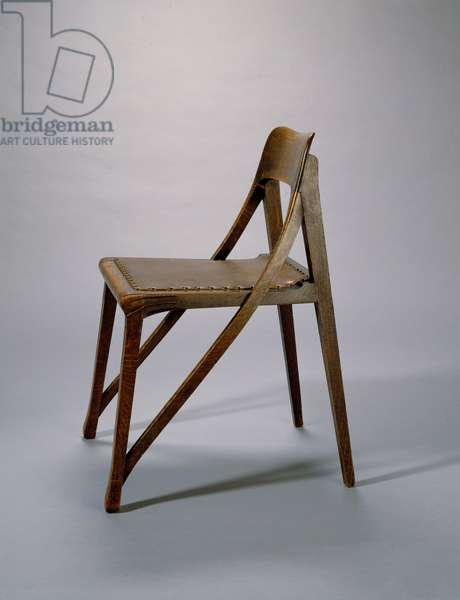 Chair, 1898-99 (oak & replacement leather)
