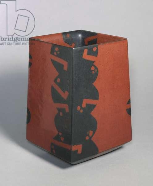 Vase, 1987 (stoneware with iron glaze)