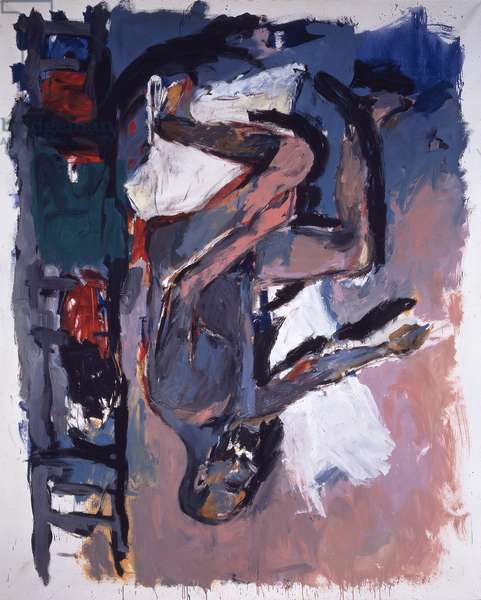 Seated Male Nude - Morocco, 1976 (oil on canvas)