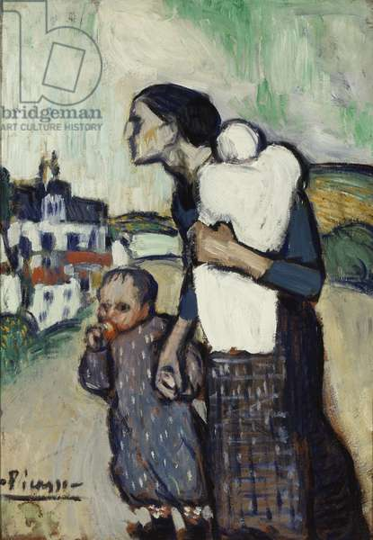 The Mother, 1901 (oil on cardboard on panel)