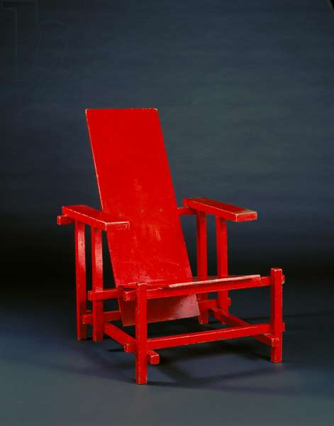 Red Blue Chair, 1919–20 (painted wood)