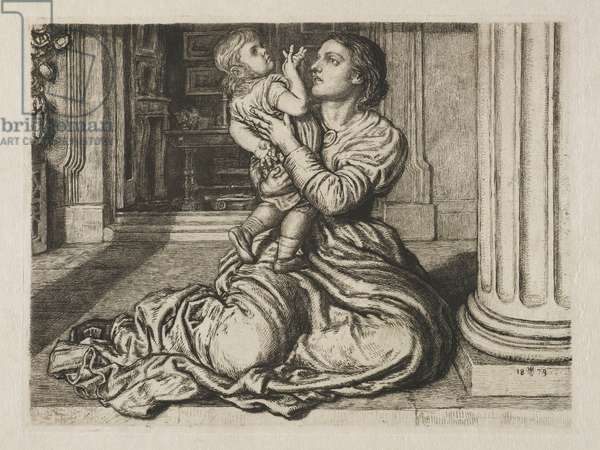 The Father's Leave Taking, 1879 (etching & drypoint)