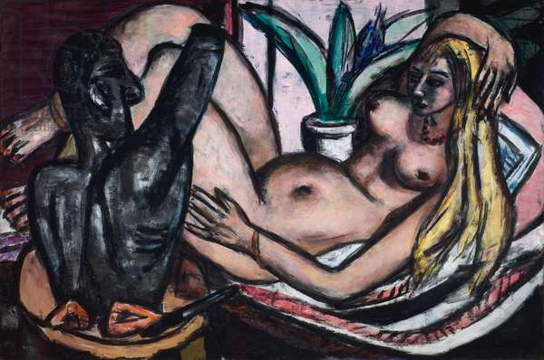 Studio (Female Nude and Sculpture), 1946 (oil on linen)