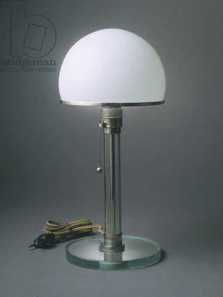 Table Lamp, 1923-24 (glass & chrome-plated metal)