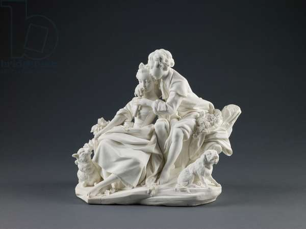The Flute Lesson, 1757-66 (porcelain)