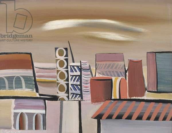 Landscape, 1938 (oil on pasteboard)