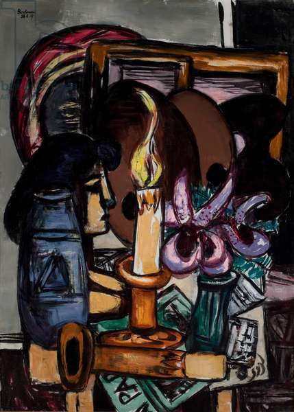 Still Life with Two Large Candles, 1947 (oil on canvas)
