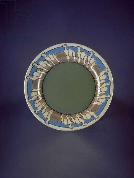 Plate, 1913 (glazed earthenware)