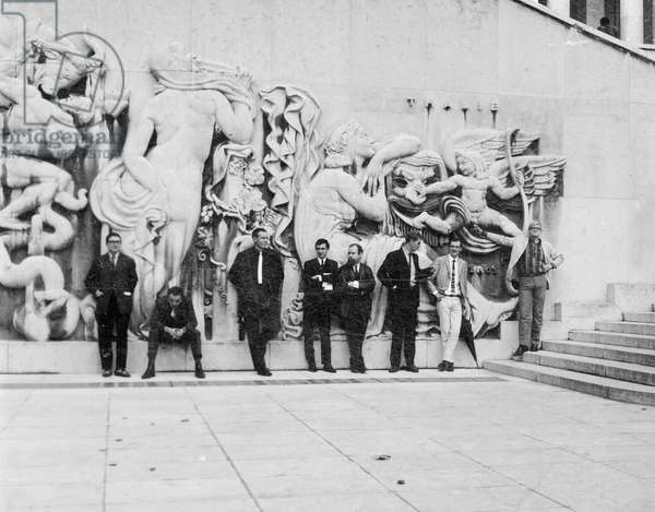 Third Paris Biennale of Young Artists, 1963 (b/w photo)