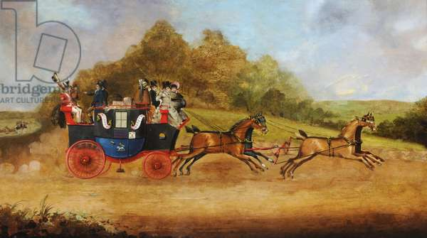 Beverley and Hull Passenger Coach, c.1826 (oil on canvas)