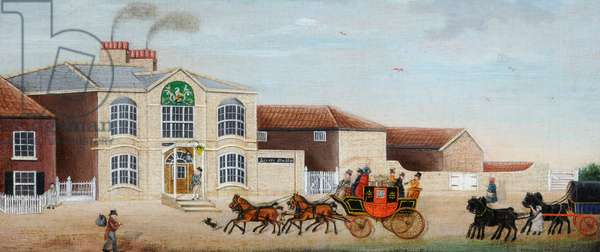 Trafalgar' Stage Coach, c.1860 (oil on canvas)