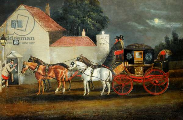 Hull and London Royal Mail Coach, c.1860 (oil on canvas)