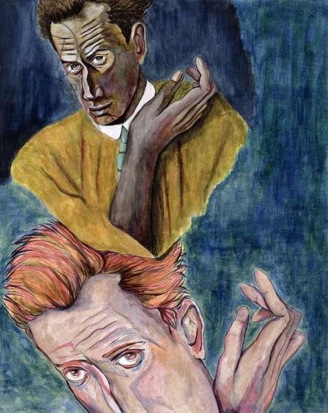 Egon Schiele - Ego-Ideal (ink on paper)