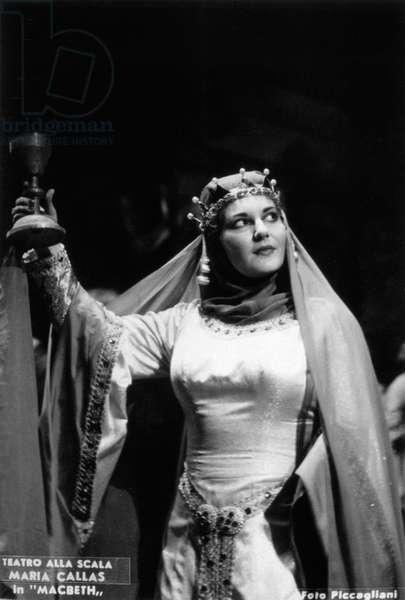 Maria CALLAS - in Giuseppe Verdi  's opera 'MacBeth' at Scala opera House, Milan