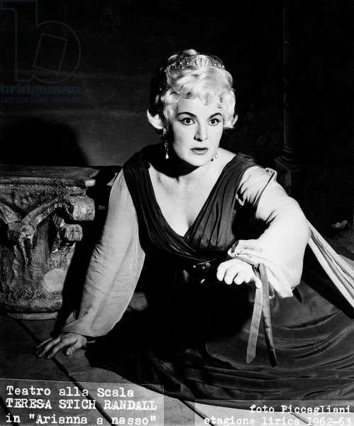 Teresa Stich Randall -  in Richard Strauss 's opera Ariadne auf Naxos - Arianna a nasso, at the 'Teatro alla Scala' in Milan, Italy