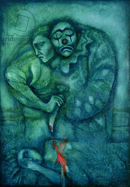 Opera Pagliacci in Blue, 1998 (oil on canvas)