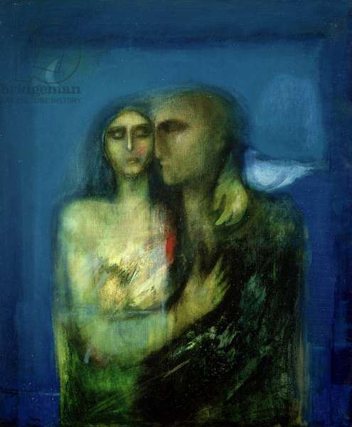 Couple with a Dove, 2001 (oil on canvas)