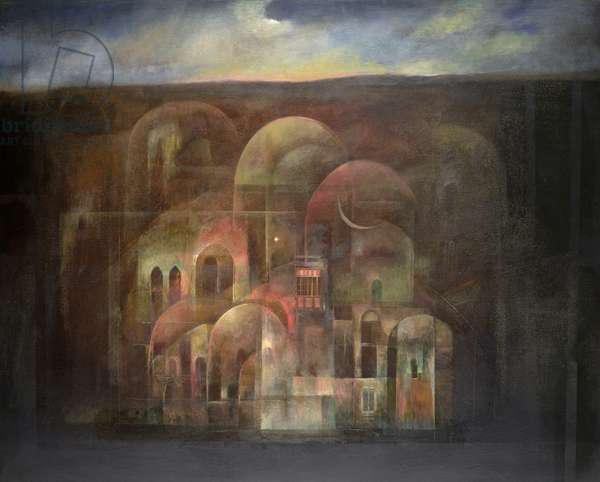 Magical City, 1999 (oil on canvas)