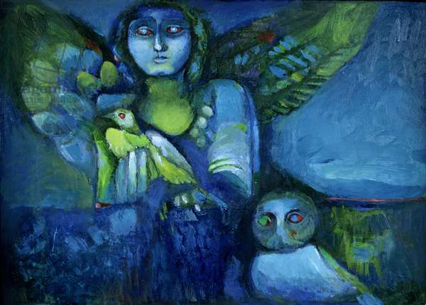Spirit from the Past, 2000 (oil on board)