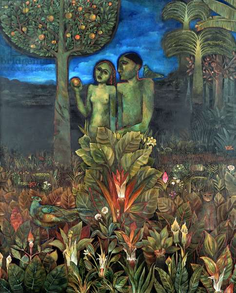 Adam and Eve, 1992 (oil on canvas)