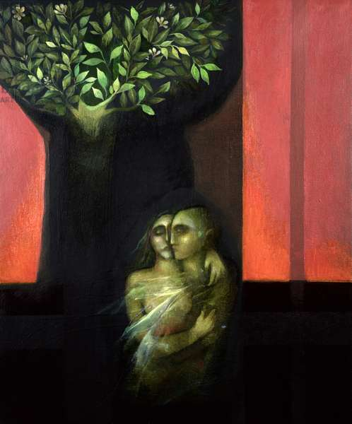 The Couple and Tree of Life, 1999 (oil on canvas)