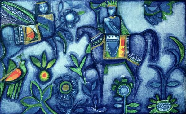 Islamic Motif, 1985 (oil on canvas)