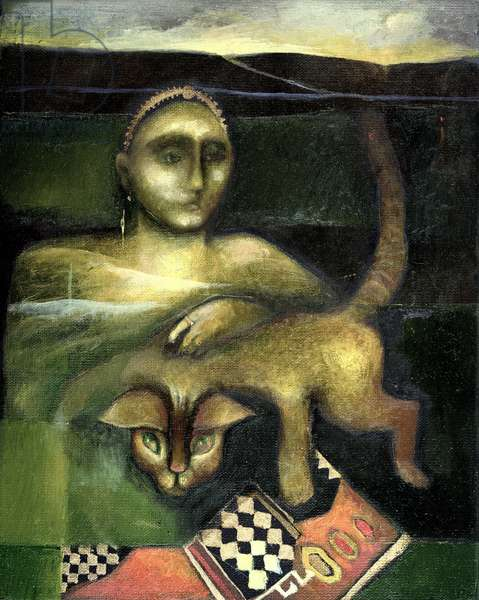 Spirit from the Past, 1999 (oil on canvas)