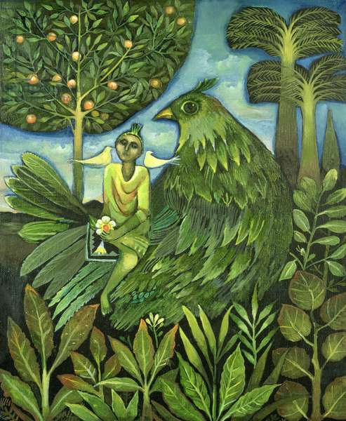 Bird of Paradise, 1992 (oil on canvas)