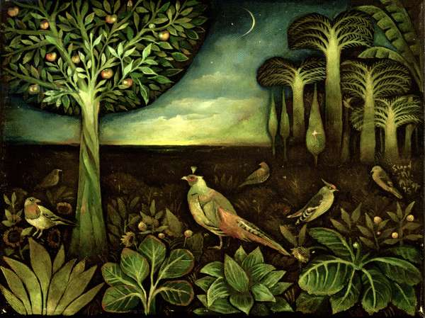 Moonlight Birds, 1995 (oil on canvas)