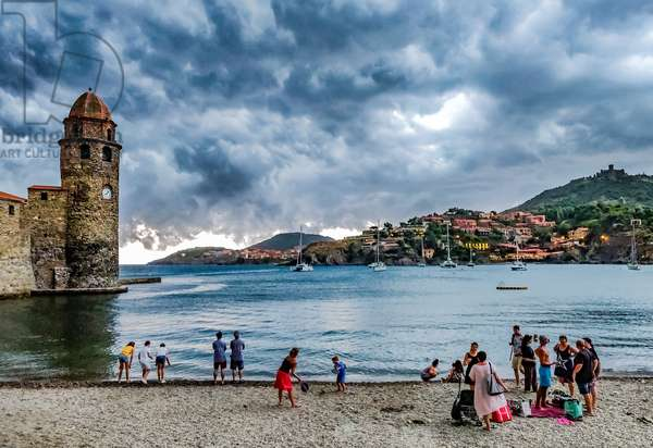 Big weather, Collioure, France, August 2018 (photo)