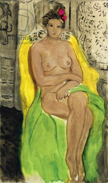 Nude in an Armchair (oil on canvas)