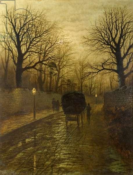 Tunstall Road, Sunderland, c.1888 (oil on canvas)