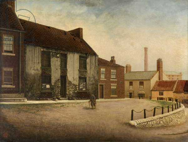 Dicky Chilton's House, Bishopwearmouth Green, Sunderland (oil on canvas)