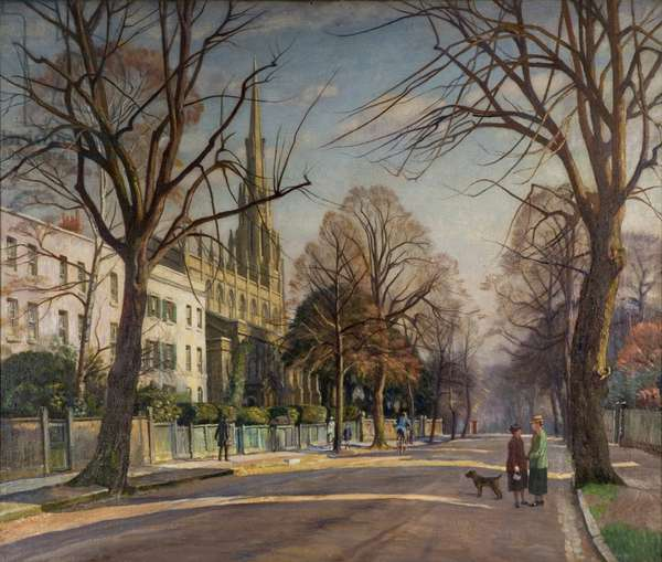 Spring in the Suburbs, 1925 (oil on canvas)