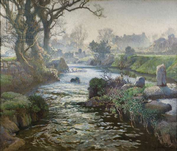 The morning mist (oil on canvas)