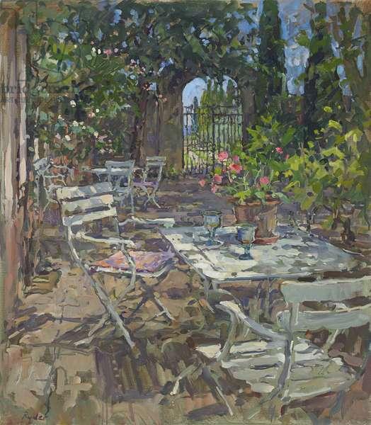 Terrace, Mas de la Rose (oil on canvas)
