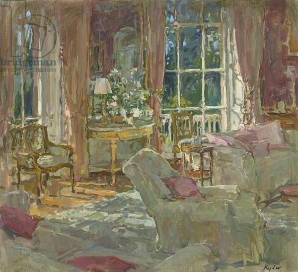 Morning Room Sunlight (oil on canvas)
